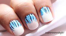 Like a Waterfall Easy Nail Designs