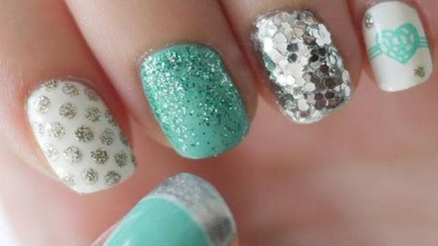 Tiffany Blue & Silver Nail Tutorial – Nail Art