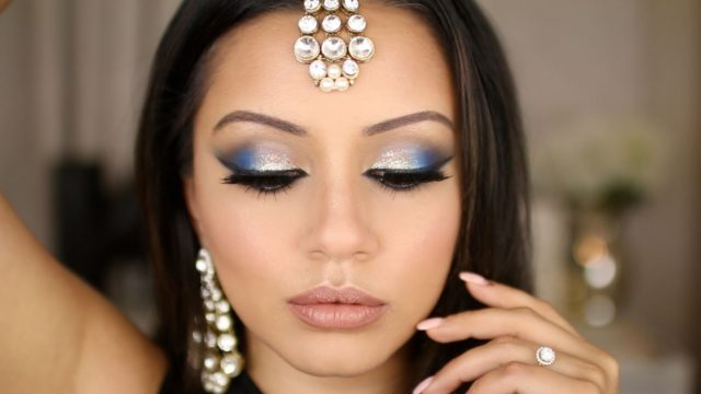 Dramatic Blue and Silver Eid Makeup Look – Kaushal Beauty