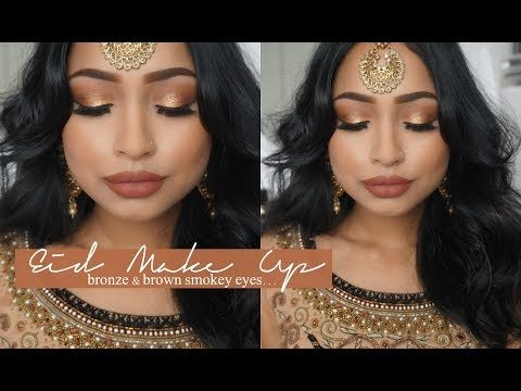 Bronze and Brown Eid Makeup Tutorial