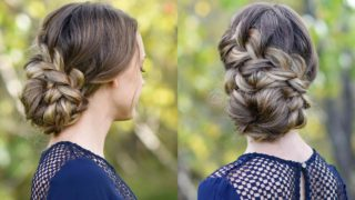 French Braid Updo – Prom Hairstyle